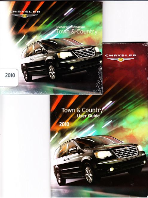2010 Chrysler Town & Country User Guide & Owner Information DVD-ROM