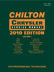 2010 Chilton's Daimler Chrysler Service Manual 2 Volume Set (2008 - 2010 Coverage)