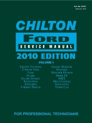 2010 Chilton's Ford Service Manual 2 Volume Set (2008 - 2010 Coverage)