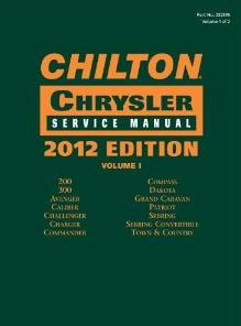 2012 Chilton's Chrysler Service Manual 2 Volume Set (2010 - 2011 Coverage)