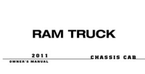 2011 Dodge Ram Chassis Cab 3500, 4500, 5500 Owner's Manual