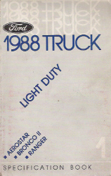 1988 Ford Light Duty Specification Manual - Book 1