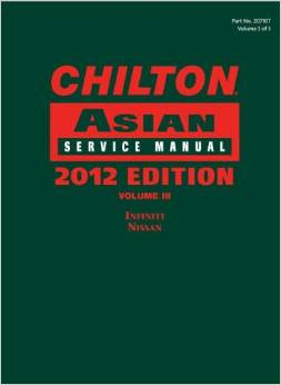 2011 - 2013 Chilton's Asian Service Manual (Infinity, Nissan) Vol. 3