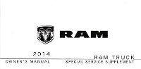 2014 Dodge Ram Truck Owner's Special Service Supplement