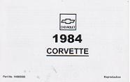 1984 Chevrolet Corvette Factory Owner's Manual