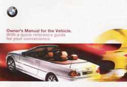 2000 BMW 3-Series: 323Ci & 330Ci Convertible Owner's Manual with Case