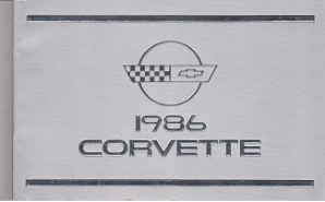 1986 Chevrolet Corvette Owner's Manual