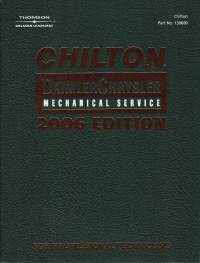 2006 Chilton's Daimler Chrysler Service Manual- (2002 - 2005 year coverage)