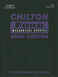 2006  Chilton's Ford Mechanical Service Manual - (2002 - 2005 year coverage)