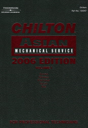 2006 Chilton's Asian Mechanical Service Manual Set, 3 Volumes - (2002 - 2005 year coverage)