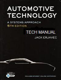 Tech Book - Automotive Technology: A Systems Approach, 5th Edition