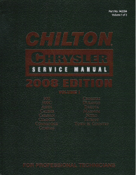 2008 Chilton's Daimler Chrysler Service Manual - 2 Volume Set (2005 - 2008 year coverage)