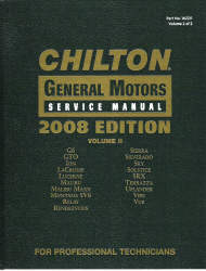 2008 Chilton's General Motors Service Manual - Volume 2