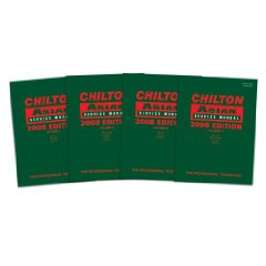 2008 Edition Chilton Asian Service Manuals - 4 Volume Complete Set