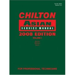2008 Edition Chilton Asian Service Manual (Acura, Honda, Isuzu) - Volume 1