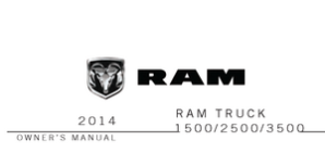 2014 Dodge Ram Truck 1500, 2500, 3500 Owner's Manual