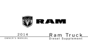 2014 Dodge Ram Truck Owner's Manual Diesel Supplement