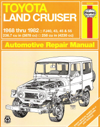 1968 - 1982 Toyota Land Cruiser Haynes Repair Manual