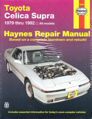 1979 - 1992 Toyota Celica Supra Haynes Repair Manual