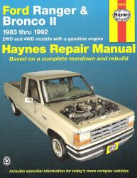 1983 - 1992 Ford Ranger and Bronco II Haynes Repair Manual