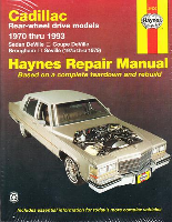 1970 - 1993 Cadillac Rear-wheel Drive Models Haynes Repair Manual