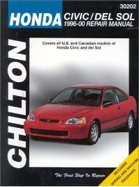 1996 - 2000 Honda Civic and del Sol, Chilton's Total Car Care Manual