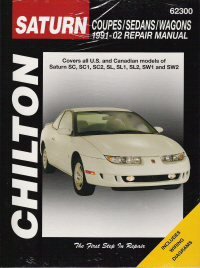 1991 - 2002 Saturn Coupes, Sedans & Wagons Chilton's Total Car Car Manual
