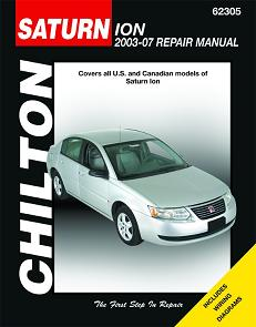2003 - 2007 Saturn Ion Chilton's Total Car Care Manual