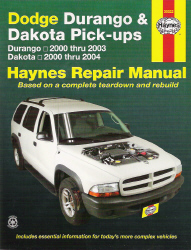 2000 - 2003 Dodge Durango & 2000 - 2004 Dodge Dakota Haynes Repair Manual