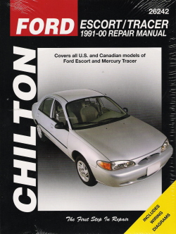 1991 - 2000  Ford Escort & Mercury Tracer Chilton's Total Car Care Manual
