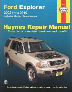 2002 - 2010 Ford Explorer / Mercury Mountaineer Haynes Repair Manual