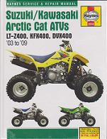 2003 - 2009 Suzuki, Kawasaki & Arctic Cat ATV Haynes Repair Manual