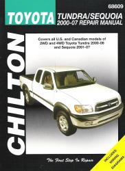 2000 - 2006 Toyota Tundra and 2001 - 2007 Sequoia Chilton's Repair Manual