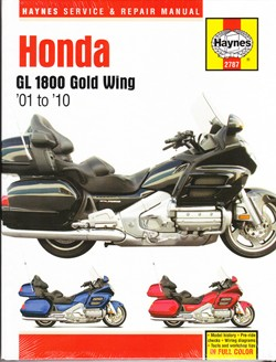 2001 - 2010 Honda GL 1800 Gold Wing Haynes Repair Manual