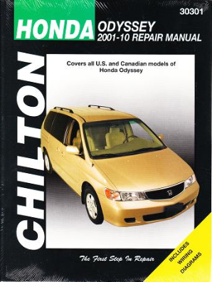 2001 - 2010 Honda Odyssey Chilton's Total Car Care Manual