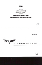 2008 Chevrolet Corvette Factory Owner's Portfolio