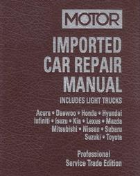 1997 - 2002 MOTOR Imported Asian Car & Light Truck Repair Manual - 2 Vol. Set