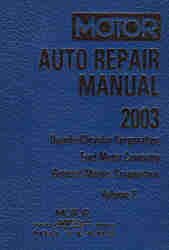1999 - 2003 MOTOR Domestic Auto Repair Manual ABS/Electrical Volume 2, 72nd Edition