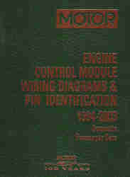 1994 - 2003 MOTOR Domestic Passenger Cars Engine Control Module Wiring Diagrams & PIN Identification, 1st Edition