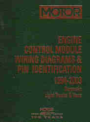 1994 - 2003 MOTOR Domestic Light Duty Trucks and Vans Engine Control Module Wiring Diagrams & PIN Identification, 1st Edition