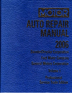2002 - 2006 MOTOR GM, Ford, Chrysler Auto Repair Manual 69th Edition - Volume 1