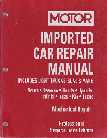 2001 - 2005 MOTOR Imported Asian Car, Light Truck & Van Repair Manual, Vol. 1