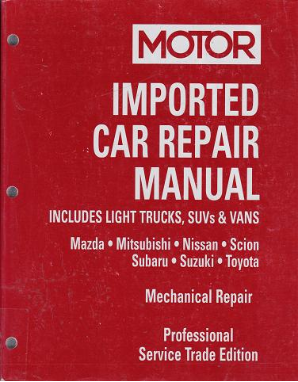 2001 - 2005 MOTOR Imported Asian Car, Light Truck & Van Repair Manual, Vol. 2