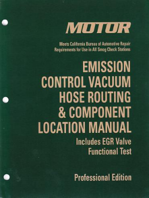 2012-2013 MOTOR Emission Control Vacuum Hose Routing & Component Location Manual 8th Edition