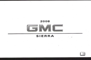 2008 GMC Sierra Factory Owner's Manual