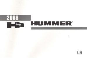2008 Hummer H3 Factory Owner's Manual