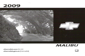 2009 Chevrolet Malibu Factory Owner's Manual