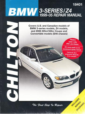 1999 - 2005 BMW  3-Series (E46 Chassis) and Z4,Chilton's Total Car Care Manual