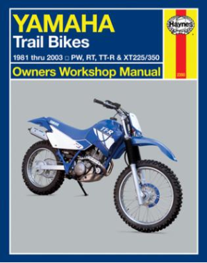 1981 - 2003 Yamaha Trail Bikes Haynes Owners Workshop Manual