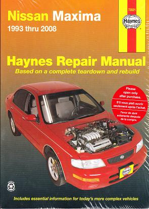 1993 - 2008 Nissan Maxima Haynes Repair Manual